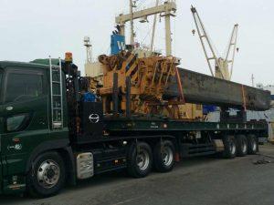 建設機械輸送